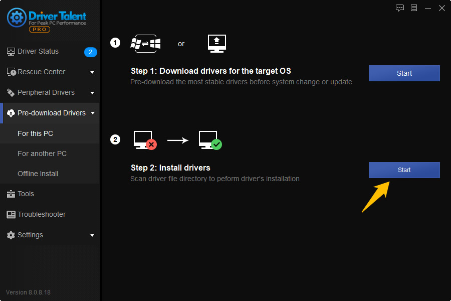 install pre-downloaded drivers