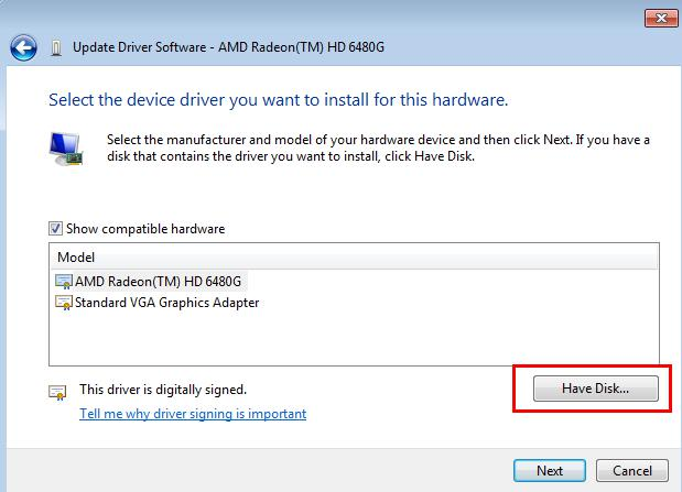 install driver from device manager