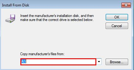 how to install .inf file driver