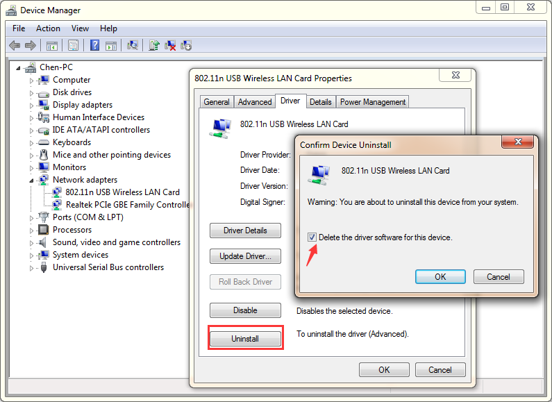 network driver for windows xp