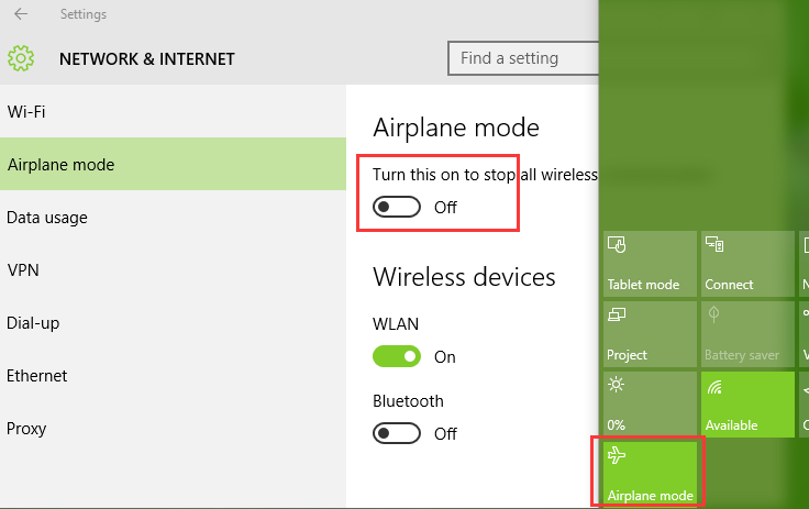 Windows 10 Airplane Mode On Or Off Errors And Solutions Driver Talent
