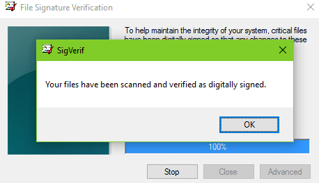 windows 7 signature verification