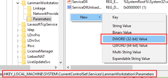new-dword-32-bit-value-to-fix-no-lan-access-on-windows-10.png