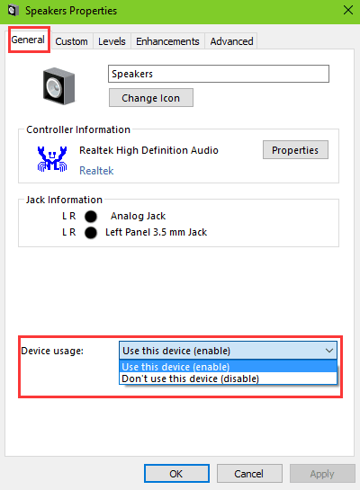 realtek audio no sound windows 10