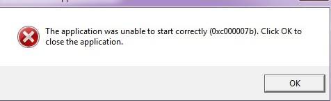 Fix 'The application was unable to start correctly (0xc000007b)' error in  Windows