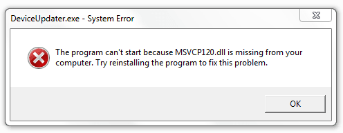 msvcr120.dll missing download