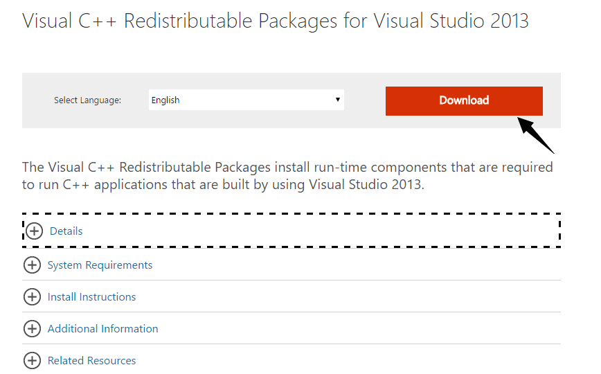 download visual c++ redistributable pakages.png