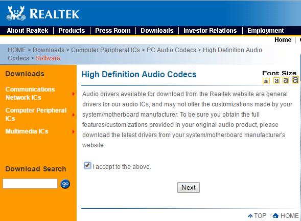 how to download realtek audio driver