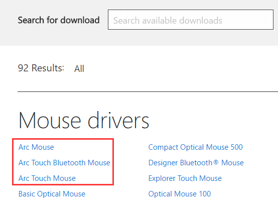 7d1df44b3dc Microsoft Arc Mouse Drivers for Windows 10, 8.1, 8, 7, Vista, XP ...