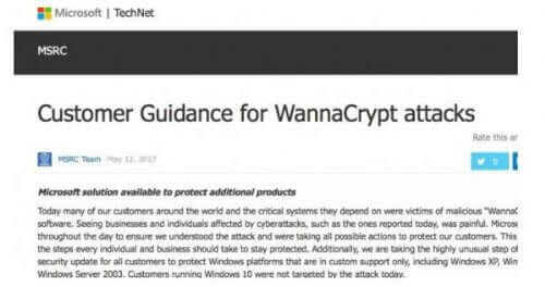 windows 7 patch for wanna cry