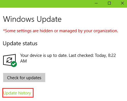 check-update-history-fix-microsoft-edge-not-working