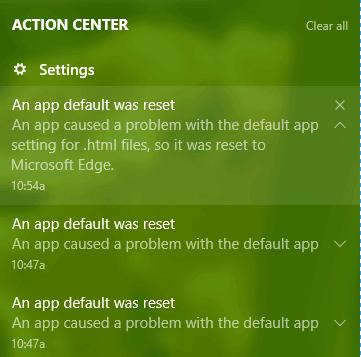 an app default was reset windows 10 pdf