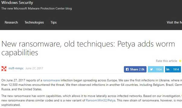 How to Prevent Windows PC from Petya Ransomware Attack on Windows 10, 8.1, 8, 7, Vista, XP ...