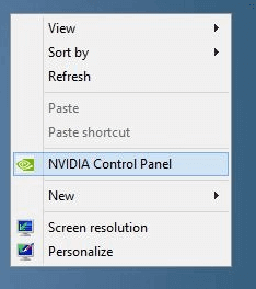 how to add nvidia control panel