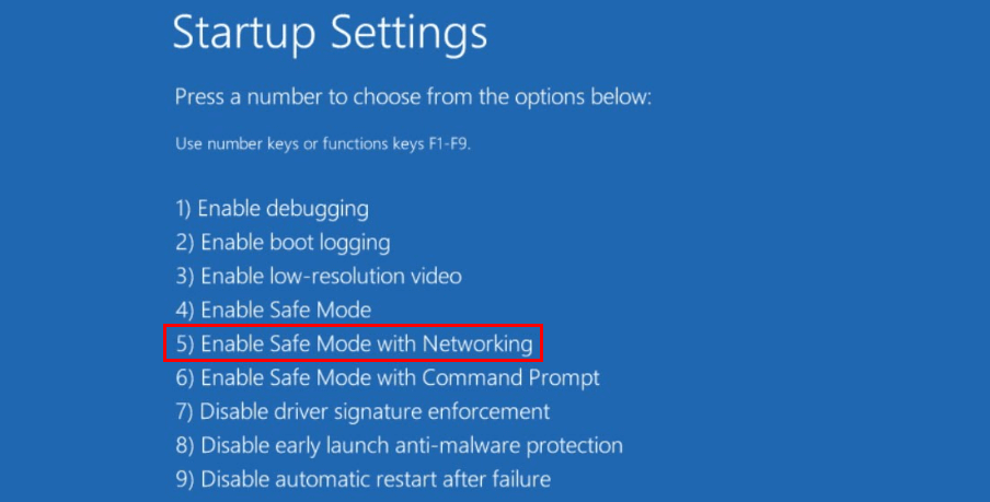 enable-safe-mode-with-networking-fix-red-screen-windows-10-update-2018.png