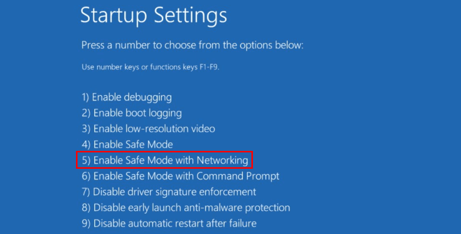 enable-safe-mode-with-networking-fix-screen-flickering-windows-10-update-2018.png