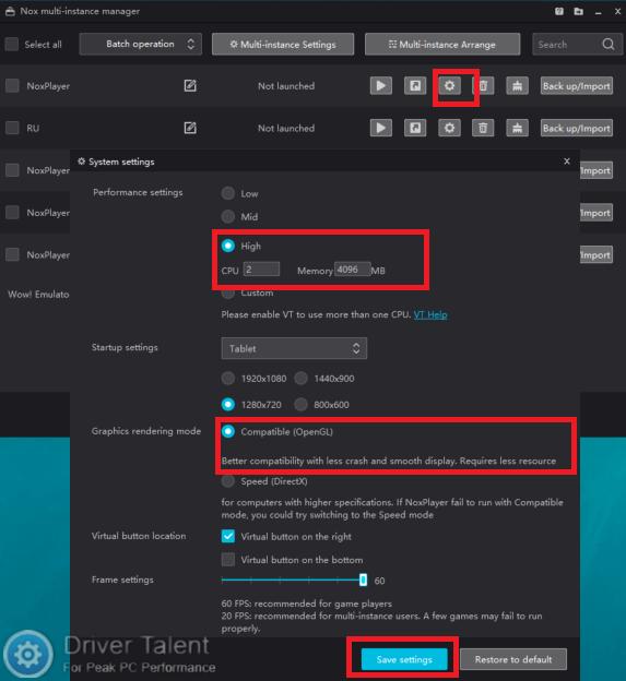 Fix: Nox App Player Error 1005 - Your Graphics Card Driver Is
