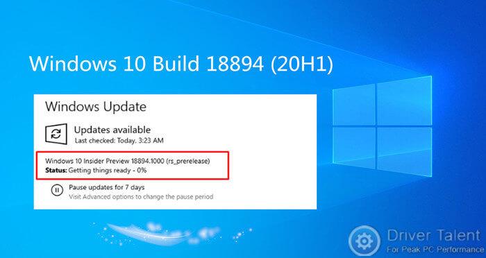 Windows 10 Build 18894 (20H1) Brings File Explorer