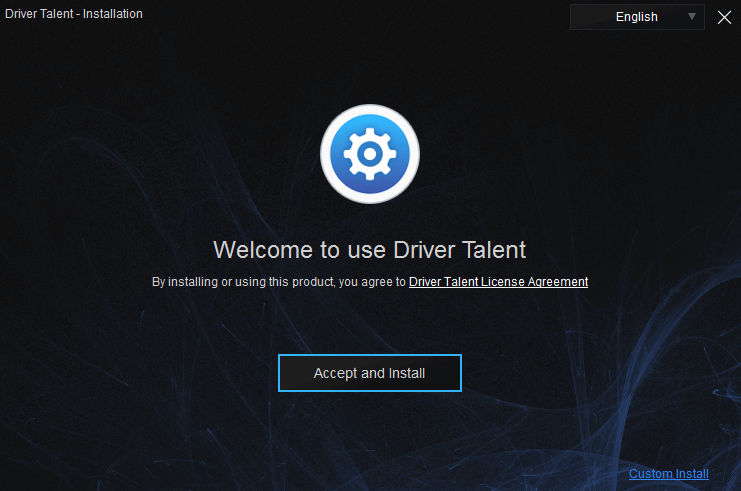 install driver talent for network card
